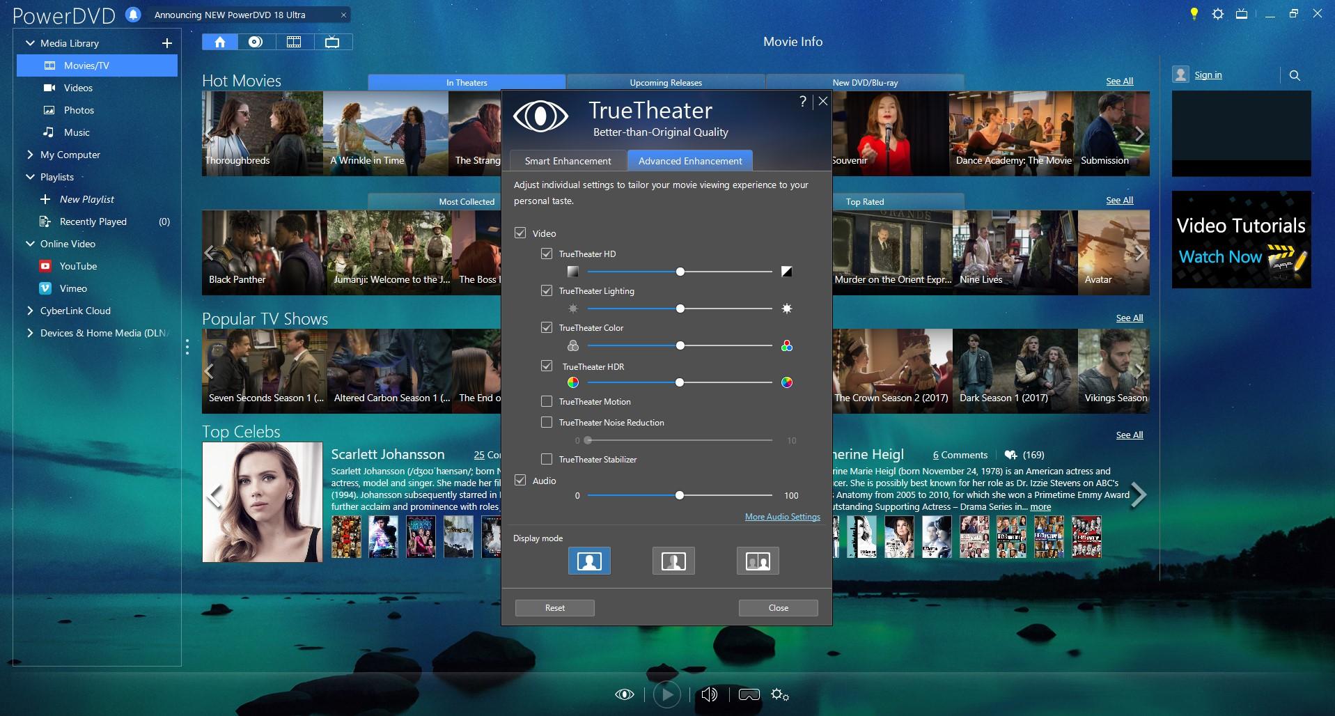 Video Player Software, PowerDVD Ultra Screenshot
