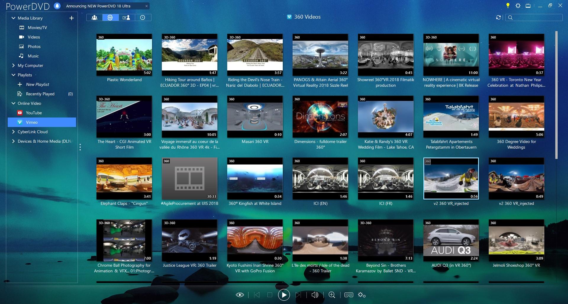 Video Software, PowerDVD Ultra Screenshot