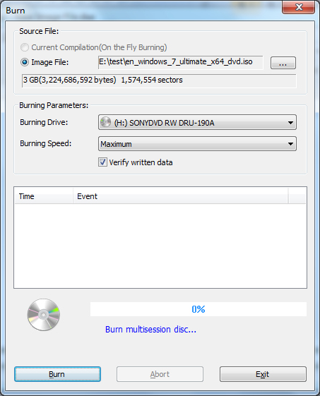 PowerISO, DVD Burner Software Screenshot