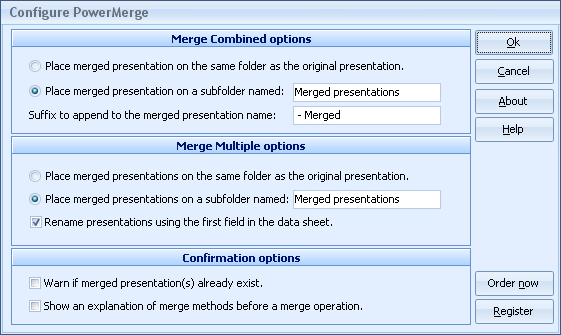 Microsoft Office Software, PowerMerge Screenshot