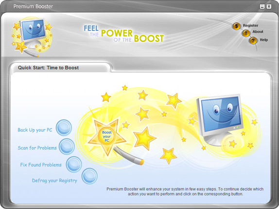 Premium Booster Family License, PC Optimization Software Screenshot