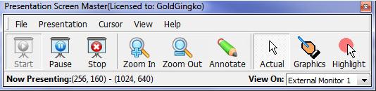 Presentation Screen Master, Presentation Software Screenshot