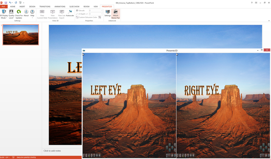 Microsoft Office Software, Presente3D Screenshot