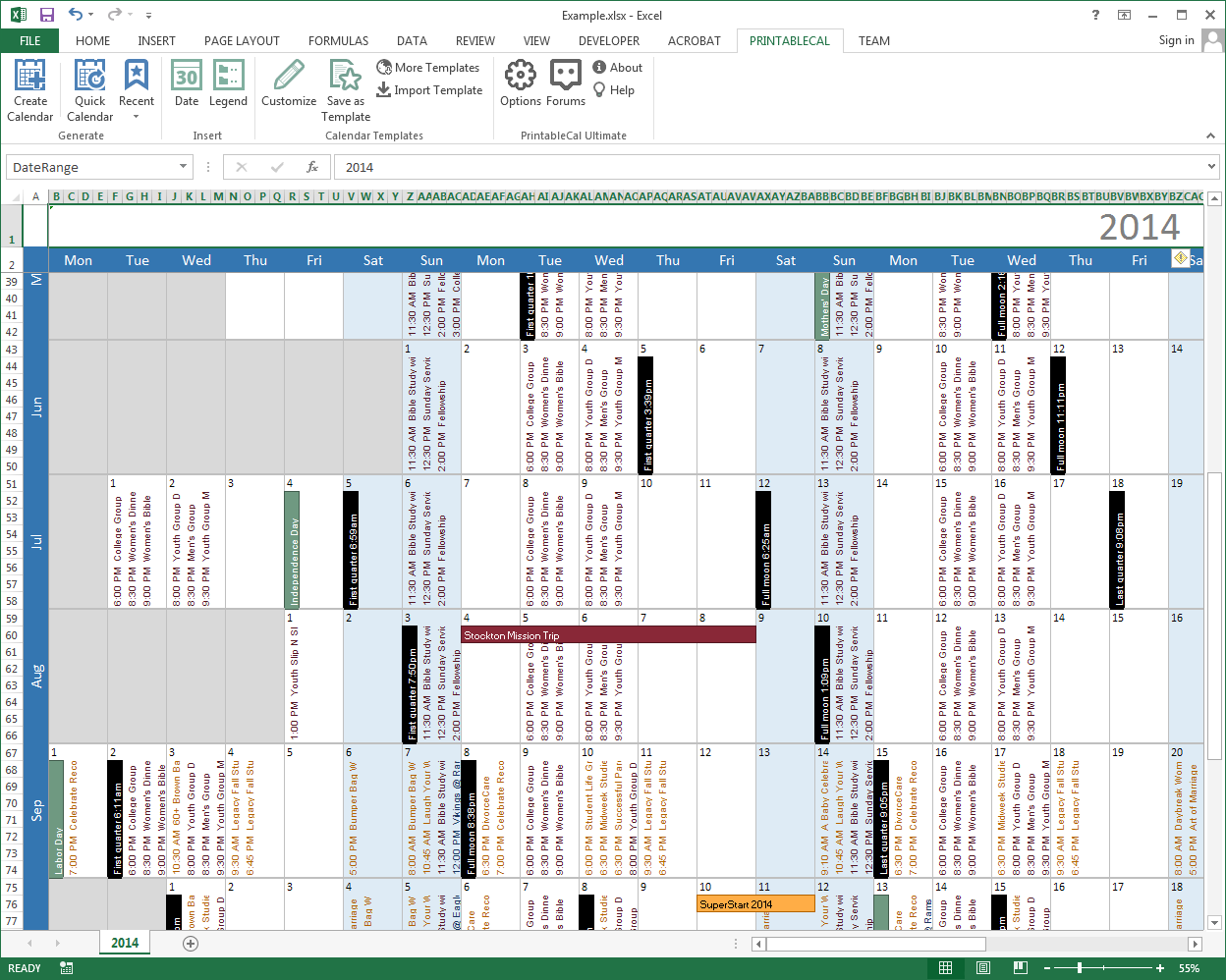 PrintableCal Basic Screenshot 11