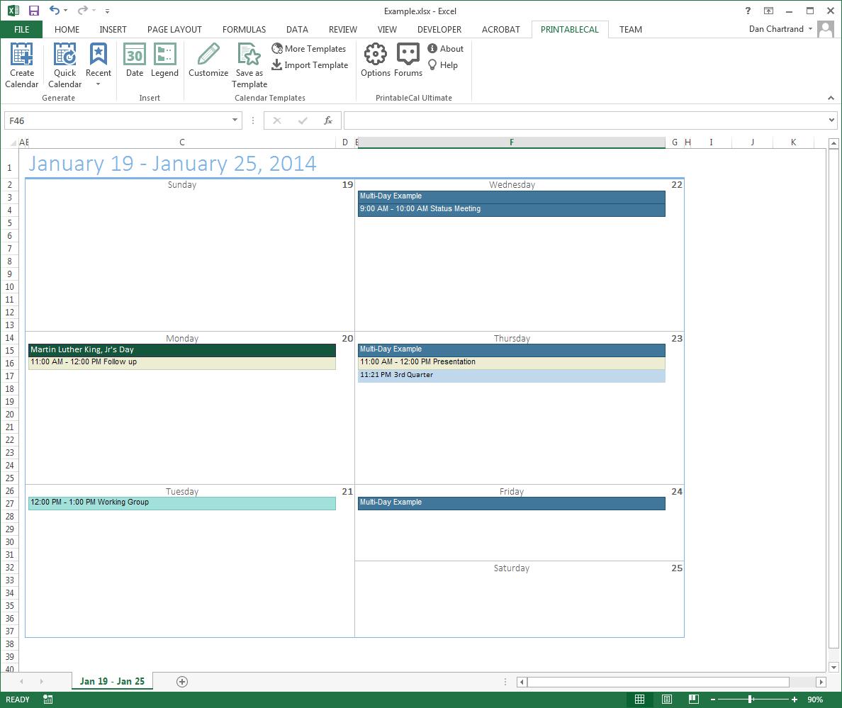PrintableCal Basic Screenshot 14