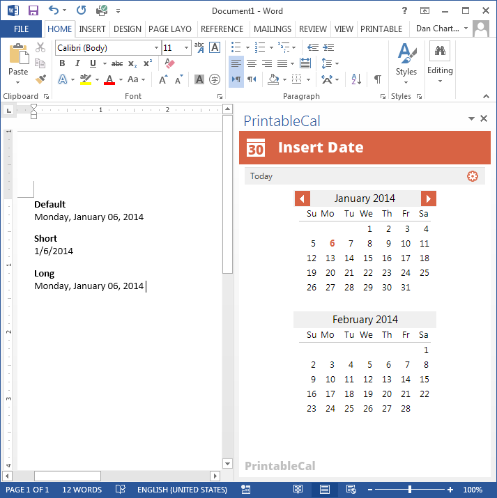 PrintableCal Basic Screenshot 16