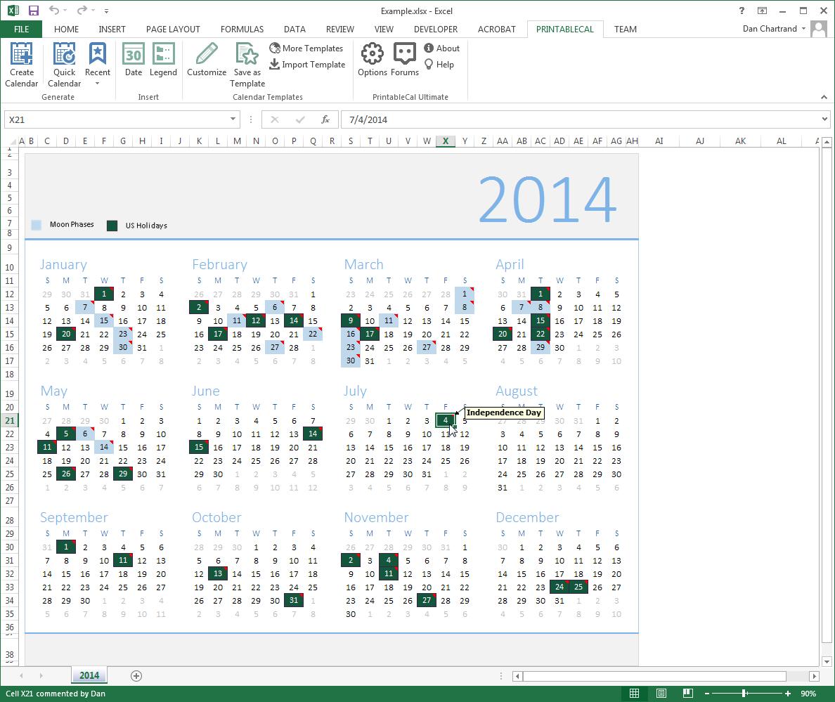 PrintableCal Basic Screenshot 15