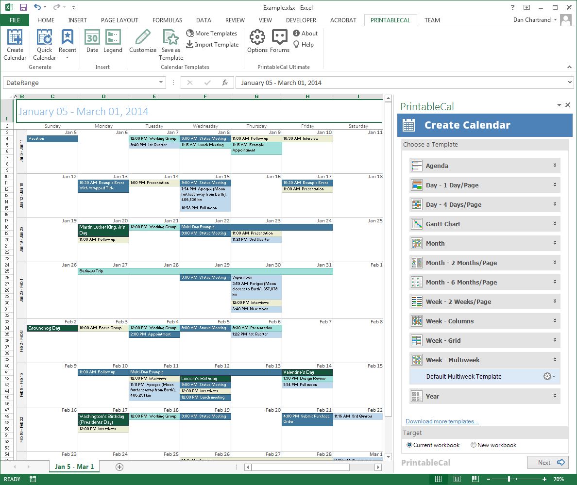 PrintableCal Basic Screenshot 12