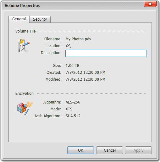 Privacy Drive, Access Restriction Software Screenshot