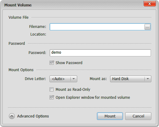 Security Software, Privacy Drive Screenshot