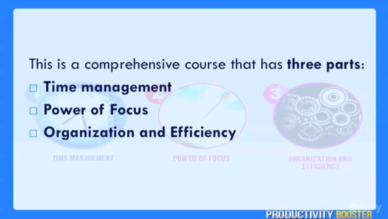 Productivity Booster, Learning and Courses Software Screenshot
