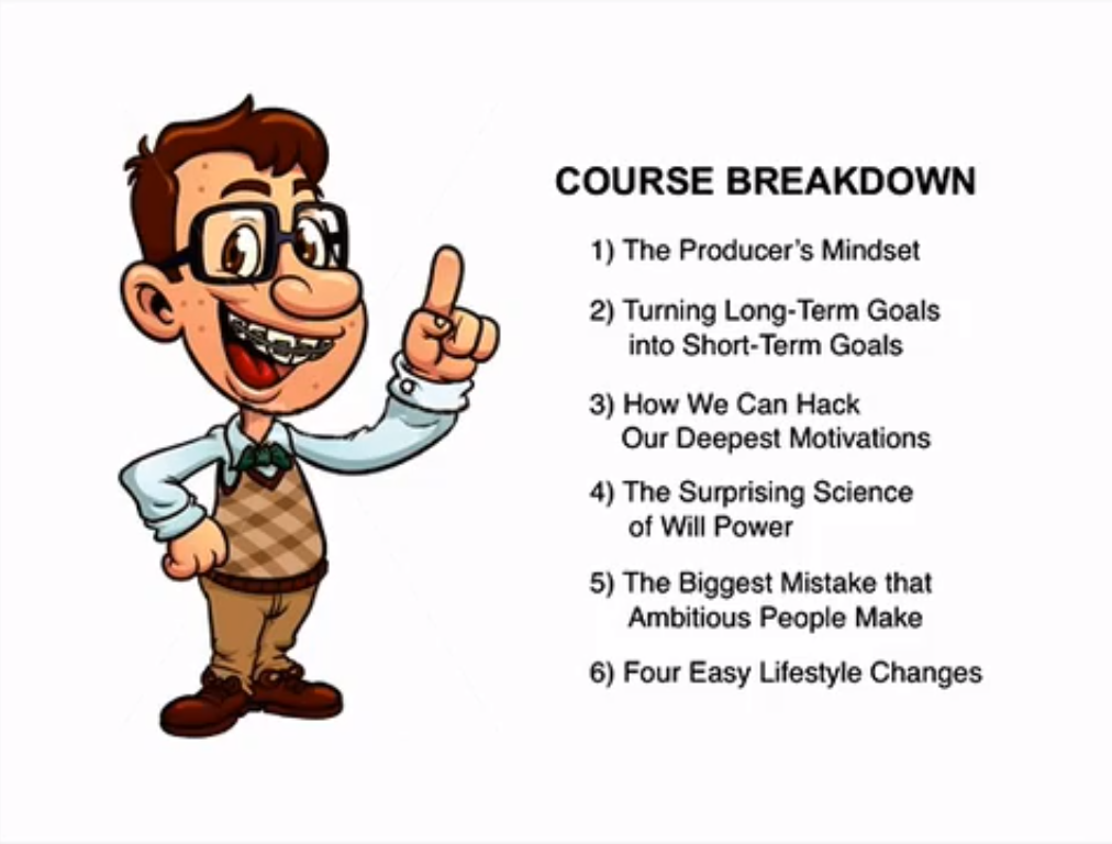 Productivity Strategies to Destroy Your Inner Procrastinator, Learning and Courses Software Screenshot