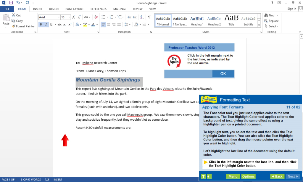 Professor Teaches Excel & Word 2013 Tutorial Set Download Screenshot