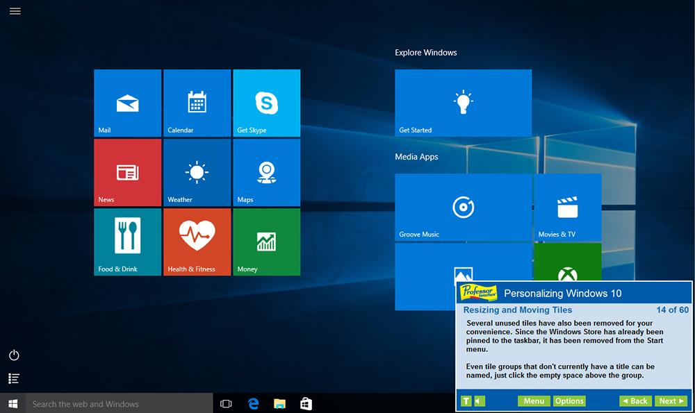 Hobby, Educational & Fun Software, Professor Teaches Office 2019 & Windows 10 Tutorial Set Downloads Screenshot