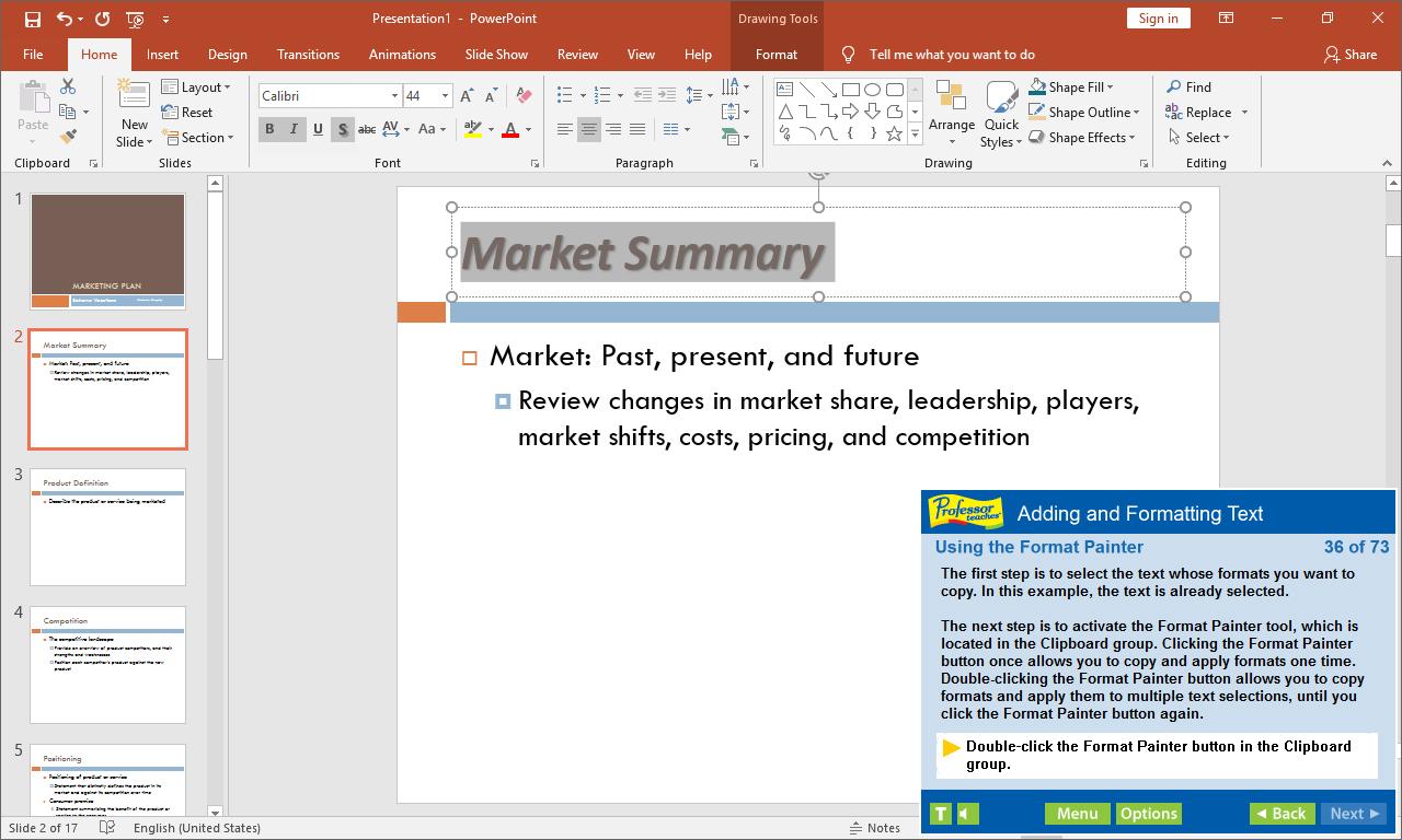 Professor Teaches Office 2019 & Windows 10 Tutorial Set Downloads, Hobby, Educational & Fun Software Screenshot