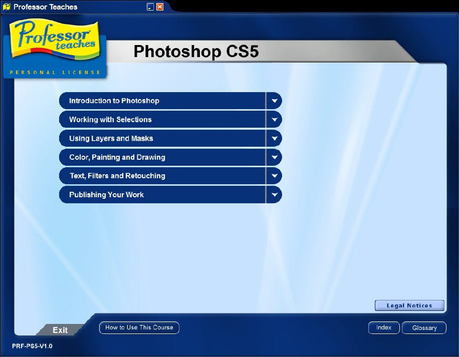 Professor Teaches Photoshop CS5 Screenshot