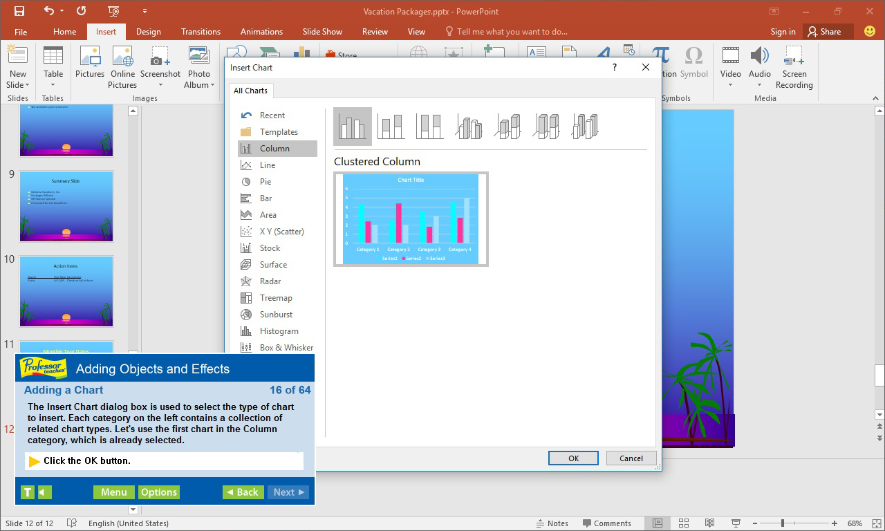 Professor Teaches PowerPoint 2019, Learning and Courses Software Screenshot