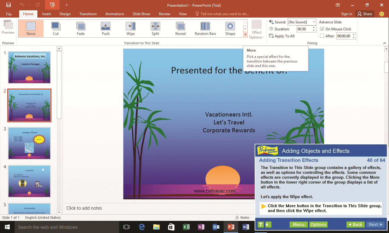 Microsoft Office Software, Professor Teaches Web Library Screenshot