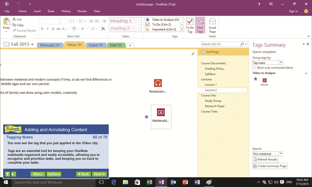 Professor Teaches Web Library, Microsoft Office Software Screenshot