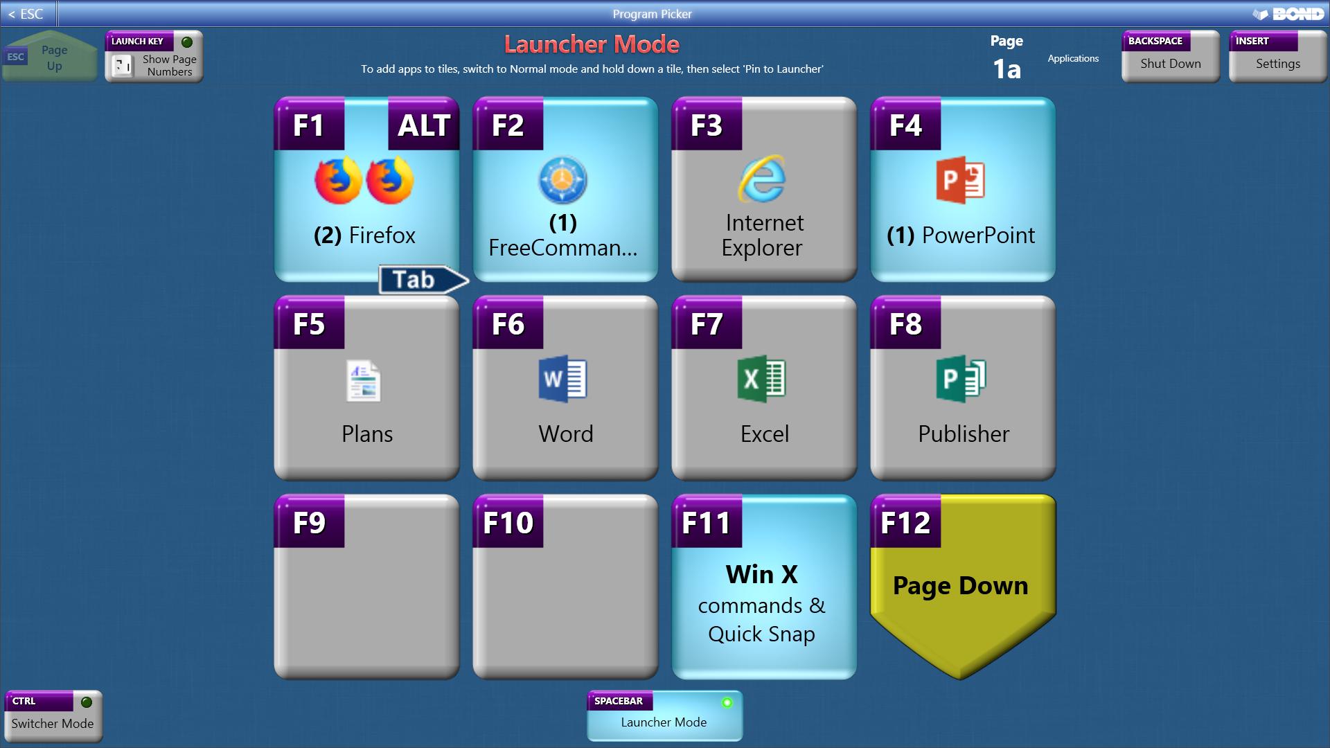 Program Picker, App Launcher Software Screenshot