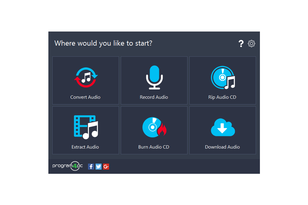 Program4Pc Audio Converter Pro Screenshot