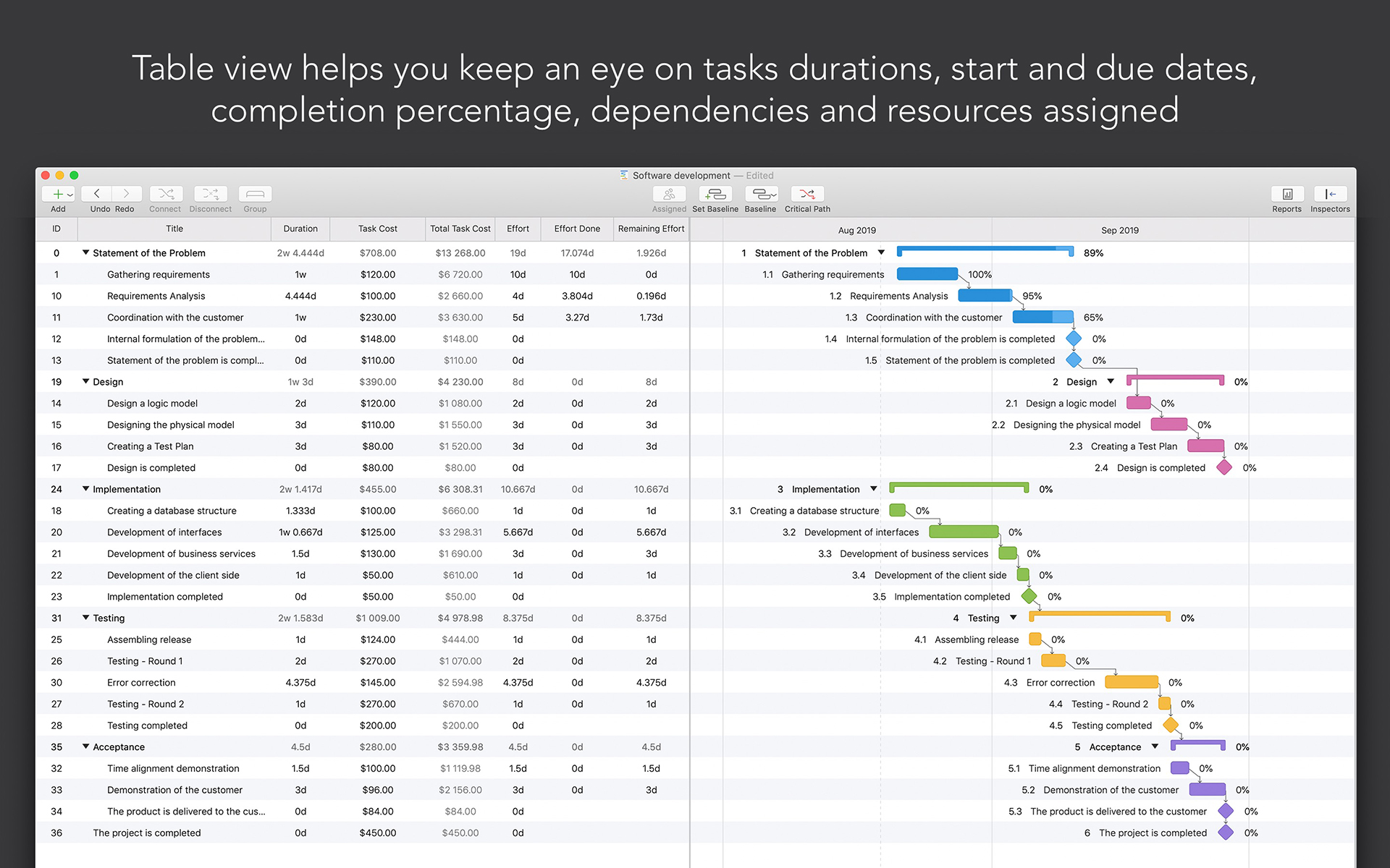 Project Office: Gantt chart, Productivity Software, Project Management Software Screenshot