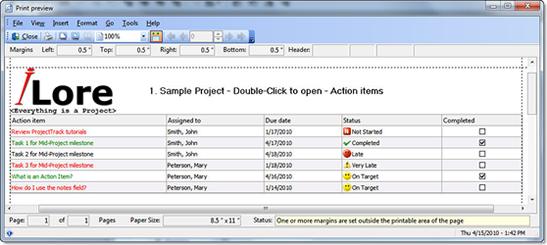 Productivity Software, Project Management Software Screenshot