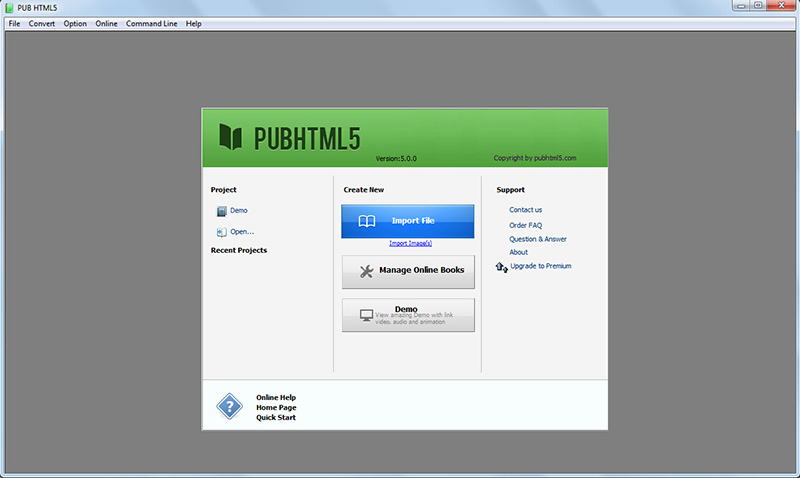 PubHTML5 flipbook maker 1 year Platinum Plan, Graphic Design Software Screenshot