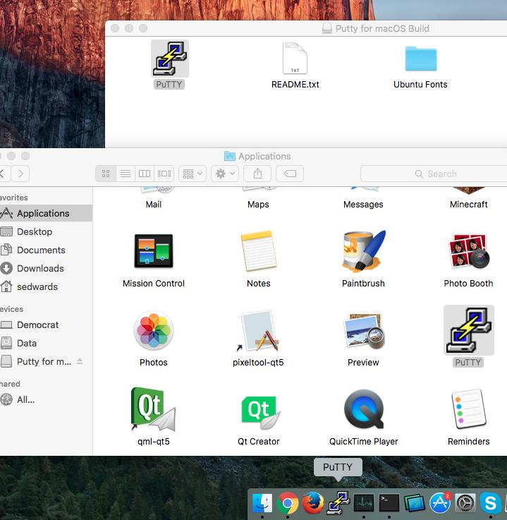 Software Utilities, Putty for Mac Screenshot