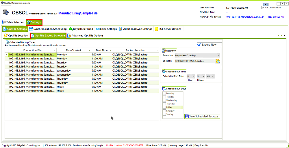 QBSQL, Business Management Software Screenshot