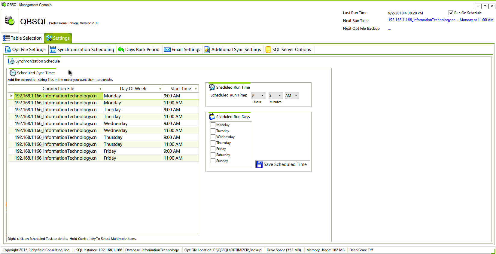 Business Management Software, QBSQL Screenshot