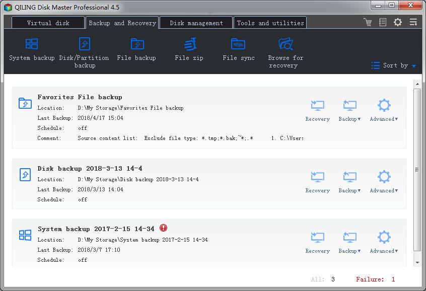 QILING Disk Master Professional + Lifetime Free Upgrades Screenshot
