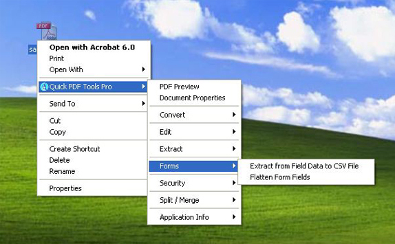 Quick PDF Tools Pro, PDF Utilities Software Screenshot