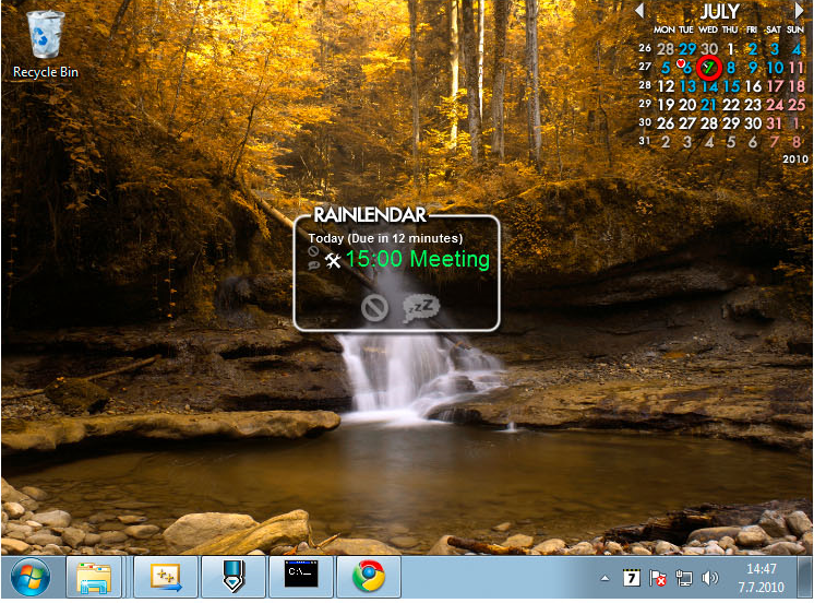 Productivity Software, Rainlendar 2 Pro Screenshot