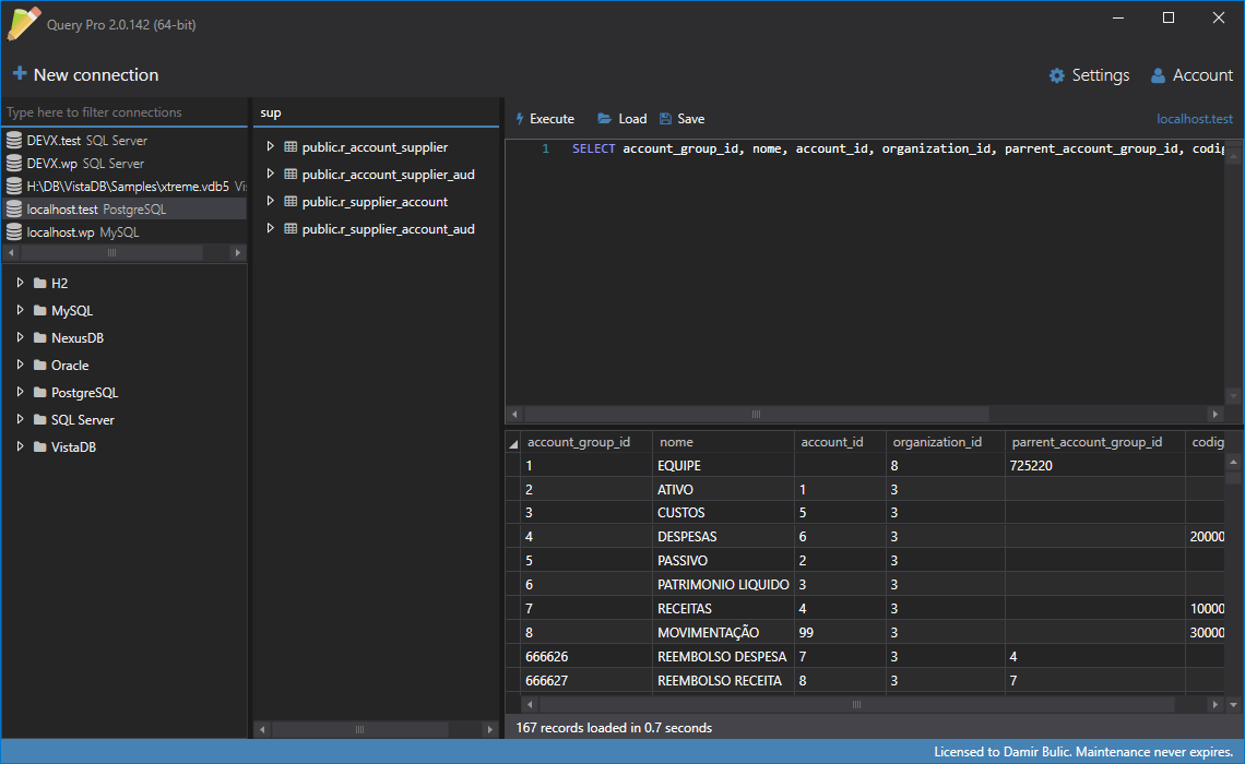 Query Pro, Development Software Screenshot