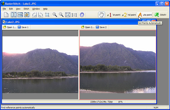 Photo Manipulation Software, RasterStitch Screenshot