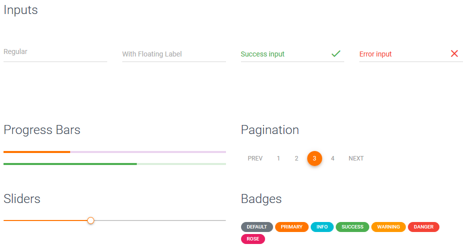 Website Builder Software, Real Material UI Kit Screenshot