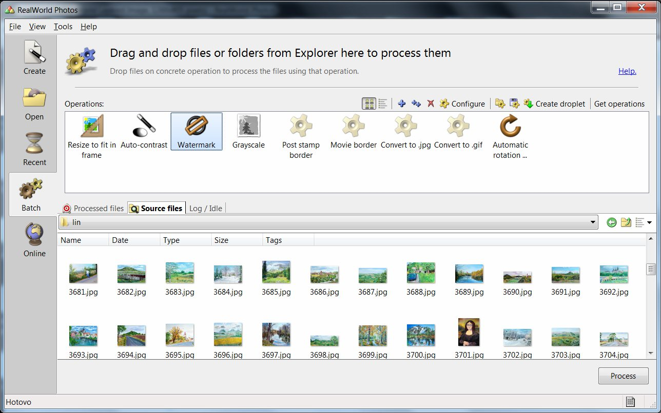 RealWorld Photos, Photo Editing Software Screenshot