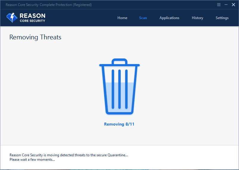 Reason Core Security, Security Software Screenshot