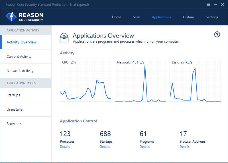 Security Software, Reason Core Security Screenshot