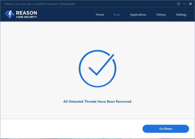Antivirus Software, Reason Core Security Screenshot