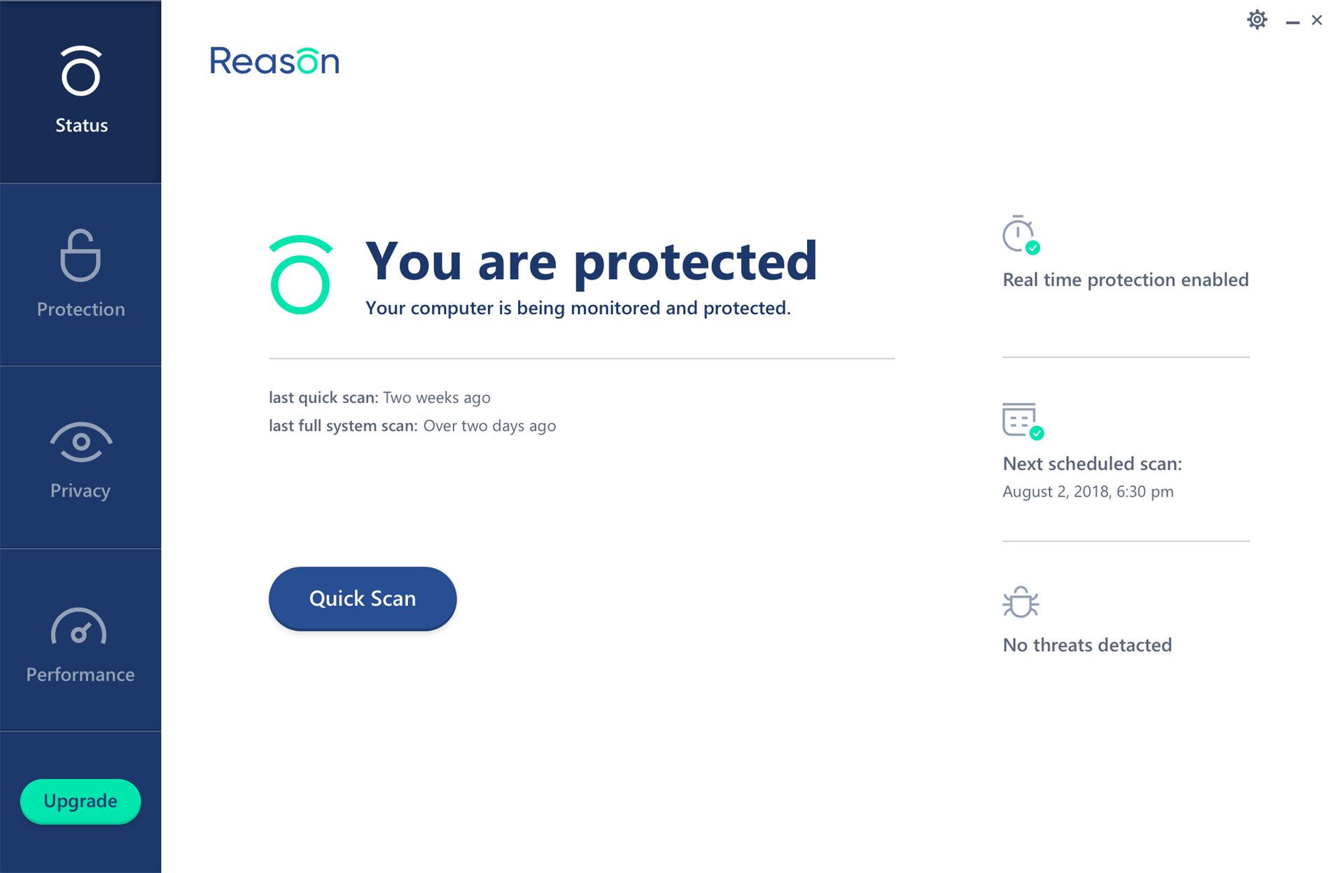 Reason Cybersecurity Screenshot