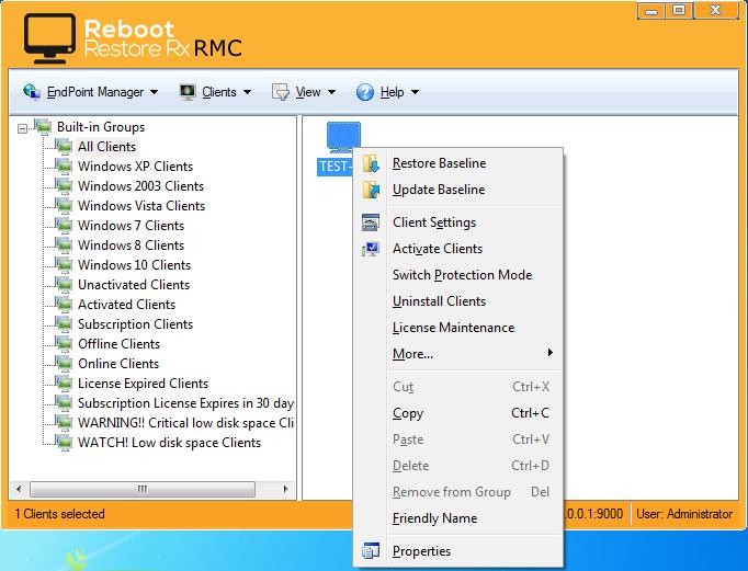 Reboot Restore Rx Pro, Other Utilities Software Screenshot