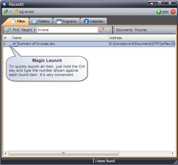 RecentX Launcher, Folder Software Screenshot