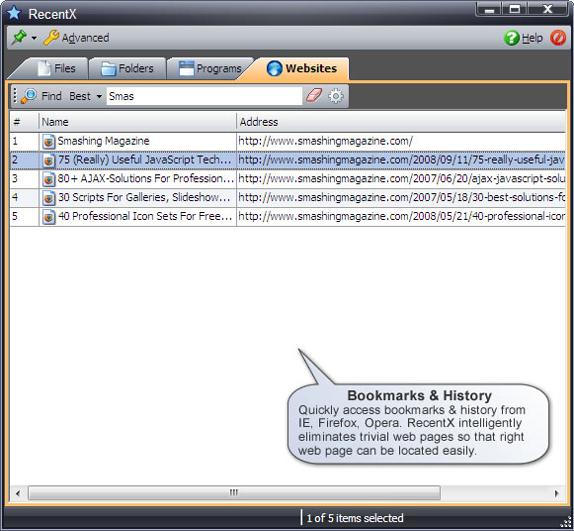 RecentX Launcher, Software Utilities, Folder Software Screenshot