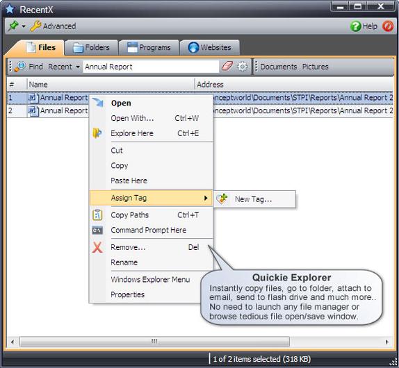 RecentX Launcher, Software Utilities Screenshot
