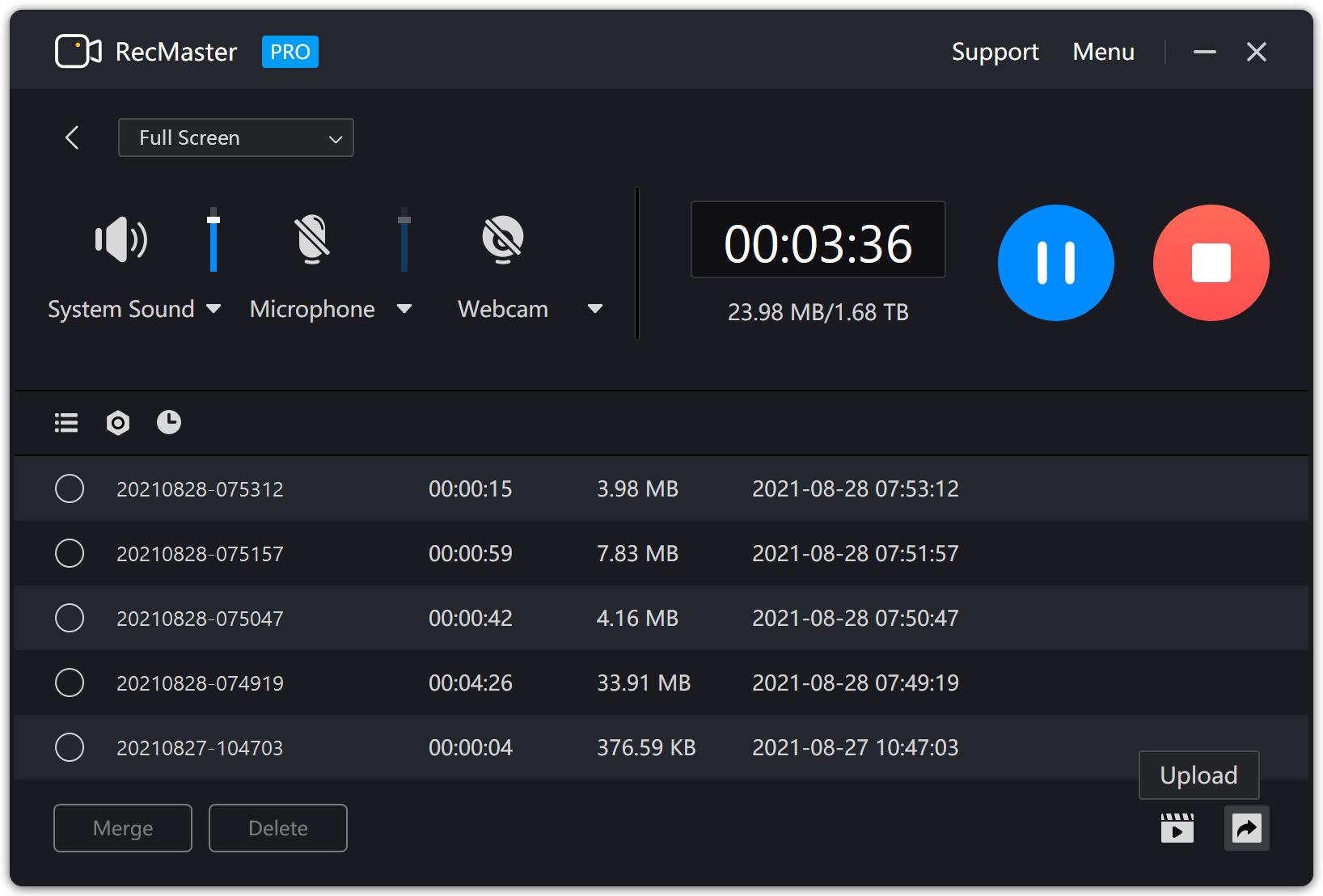 RecMaster - Screen Recorder (Lifetime License), Video Capture Software Screenshot