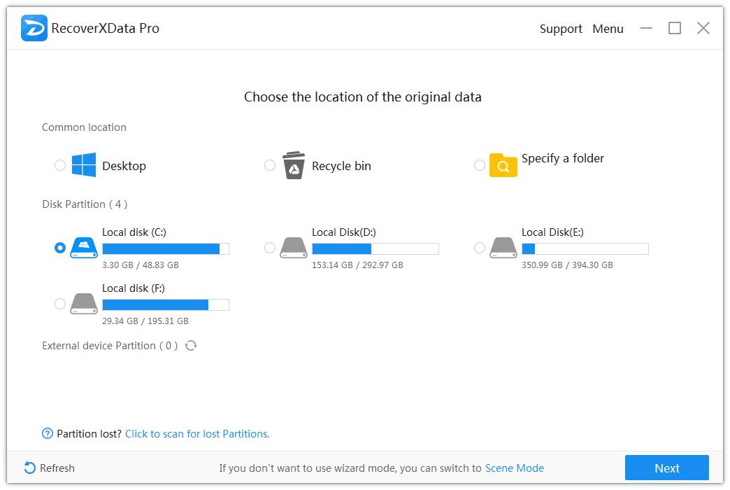 RecoverXData - Data Recovery Software (Lifelong License), Software Utilities Screenshot