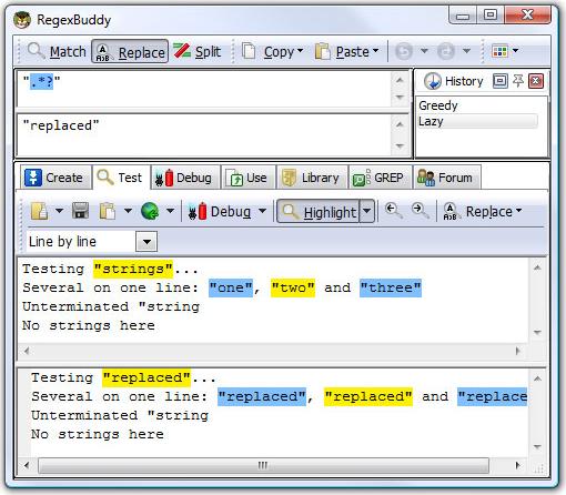 RegexBuddy, Development Tools Software Screenshot