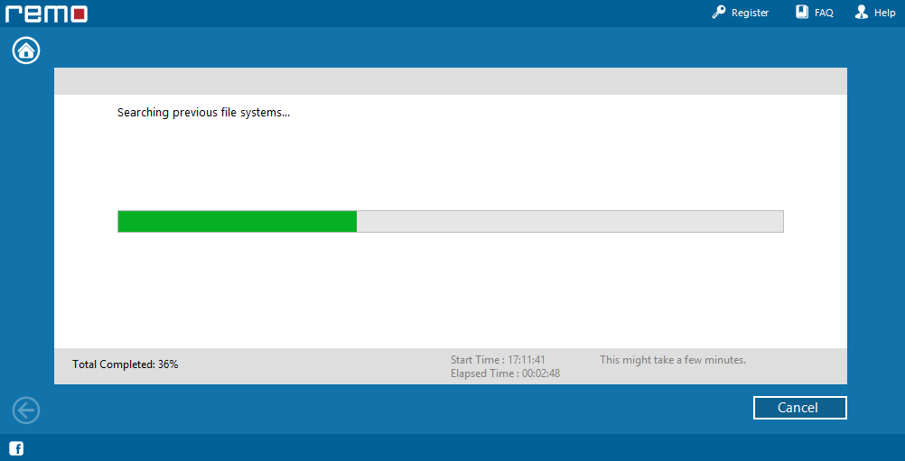 Remo Recover, Recovery Software Screenshot
